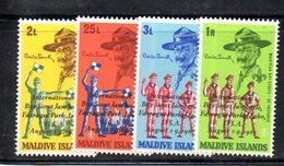 APR2167 - MALDIVE 1968 , Serie  Yvert N. 270/273  ***  MNH  (2380A) .  Scout - Maldive (1965-...)