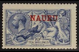 1916-23 10s Pale Blue, SG 23, Very Lightly Hinged Mint. For More Images, Please Visit Http://www.sandafayre.com/itemdeta - Nauru