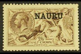 1916-23 2s6d Sepia- Brown De La Rue, SG 19, Very Fine Mint. For More Images, Please Visit Http://www.sandafayre.com/item - Nauru