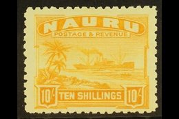 1924 10s Yellow On Rough Surfaced Paper, SG 39A, Very Fine And Fresh Mint. For More Images, Please Visit Http://www.sand - Nauru