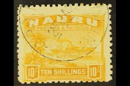 1924-48 10s Yellow On Greyish Paper, SG 39A, Fine Cds Used For More Images, Please Visit Http://www.sandafayre.com/itemd - Nauru