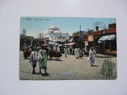 CPA TUNISIE - TUNIS : Place Bab - Tunisia