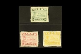1924-48 2s6d, 5s & 10s Freighter Top Values White Papers, SG 37B/39B, Very Fine Cds Used, Fresh. (3 Stamps) For More Ima - Nauru