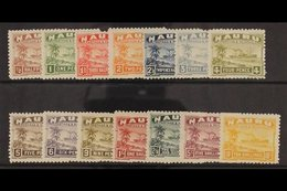 1924-48 Defins Complete Set On Rough Surfaced, Greyish Paper, SG 26A/39A, Good To Fine Mint (14 Stamps). For More Images - Nauru