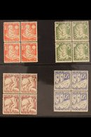 1930 Child Welfare Set (SG 388A/91A, NVPH 232/35, Mi 236A/39A) In NEVER HINGED MINT BLOCKS OF FOUR. (4 Blocks = 16 Stamp - Netherlands