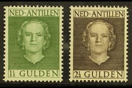 ANTILLES 1950-79 1½g Grey Green & 2½g Sepia  Perf 12½ X 12, SG 321/22, Very Fine Mint (2 Stamps) For More Images, Please - Netherlands
