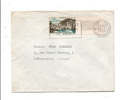 N° 1150 SEUL SUR LETTRE DE PARIS 1958 - 1921-1960: Modern Tijdperk