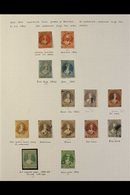 1857-64 IMPERF CHALONS An Impressive Used Collection Nicely Presented On An Album Page, Includes 1857-63 (no Watermark)  - New Zealand