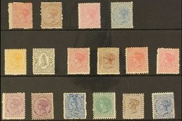 """1874-1900 MINT """"SIDEFACE"""" SELECTION. An ALL DIFFERENT Mint (with Gum) Selection Presented On A Stock Card That Includes  - New Zealand"""