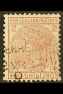 """1878 2s Deep Rose Sideface, SG 185, Fine Used With Clear """"Blenheim"""" Cds Cancel,  A Very Attractive Example Of This Stamp - New Zealand"""