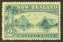 """1898 2s Grey-green """"Milford Sound, No Wmk P12 TO 16, SG 258, Very Fine Mint For More Images, Please Visit Http://www.san - New Zealand"""