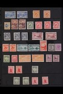 """1899-1903 MINT COLLECTION Presented On A Stock Page That Includes A 1899-1903 No Wmk Pictorial Complete """"Basic"""" Set Of A - New Zealand"""