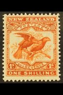 1907-08 1s Orange-red, Small Die, Perf 14 X 15, SG 385, Fine Mint. For More Images, Please Visit Http://www.sandafayre.c - New Zealand