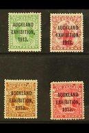 "1913 ""Auckland Exhibition"" Overprints Complete Set, SG 412/415, Fine Mint. (4 Stamps) For More Images, Please Visit Http - New Zealand"