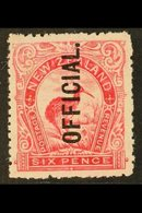 OFFICIAL 1907-11 6d Bright Carmine-pink, SG O64, Very Fine Mint. For More Images, Please Visit Http://www.sandafayre.com - New Zealand