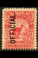 OFFICIAL 1908 6d Pink, Perf 14 X 13, Official, SG O71, Fine Mint. For More Images, Please Visit Http://www.sandafayre.co - New Zealand