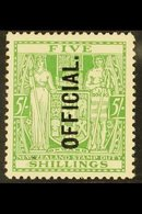 """OFFICIAL 1927-33 5s Green With """"OFFICIAL"""" Overprint Reading Vertically Upwards, SG O113, Fine Mint. For More Images, Pl - New Zealand"""