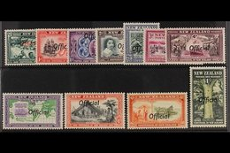 OFFICIAL 1940 Centennial Complete Set, SG O141/51, Very Fine Mint, Most Values Never Hinged. (11 Stamps) For More Images - New Zealand