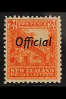 """OFFICIALS 1936 2d Orange, Variety """"perf 12½, SG O123b, Very Fine Mint. Well Centered For This Stamp. For More Images, Pl - New Zealand"""