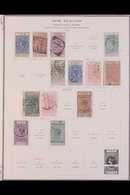 POSTAL FISCAL 1882-1930. MOSTLY USED SELECTION On Printed Pages. All Different & Includes 1882 Revenue 30s Brown Used, £ - New Zealand