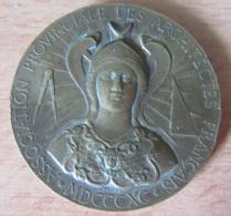 France - Médaille Association Provinciale Des Architectes Français - 1890 - Cuivre - Diam. 44 Mm, Pds. 33 Gr - Professionnels / De Société