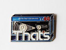 Pin's Informatique Video TV - Cassette THAT'S - Computers