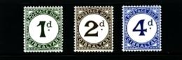 GIBRALTAR - 1956  POSTAGE DUES  SET  MINT NH - Gibilterra