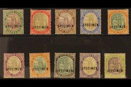 "1903 Complete Set, Overprinted ""SPECIMEN"", SG 1/10s, Fine Mint. (10) For More Images, Please Visit Http://www.sandafayre - St.Kitts And Nevis ( 1983-...)"
