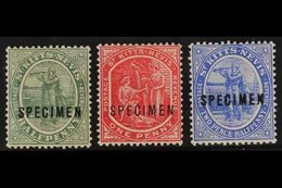 """1905-18 ½d Dull Green, 1d Carmine And 2½d Bright Blue, Overprinted """"SPECIMEN"""", SG 12, 14 And 17s, Very Fine Mint. (3) Fo - St.Kitts And Nevis ( 1983-...)"""