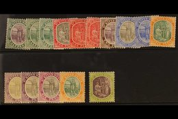 1905-18 Complete Set, SG 11/21, Plus Additional ½d, 1d And 6d (2) Listed Shades, Fine Mint. (15) For More Images, Please - St.Kitts And Nevis ( 1983-...)