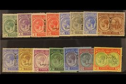 """1921-29 Set (less 1½d Red-brown), Overprinted """"SPECIMEN"""", SG 37/47cs, Fine Mint. (15) For More Images, Please Visit Http - St.Kitts And Nevis ( 1983-...)"""