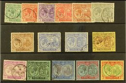 1921-29 Watermark Script CA Definitive Set Complete To 5s (less The 2½d Pale Bright Blue), SG 37/41 And 43/47b, Used, So - St.Kitts And Nevis ( 1983-...)