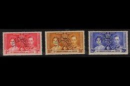 """1937 Coronation Set, Perf. """"SPECIMEN"""", SG 65/67s, Fine Mint. (3) For More Images, Please Visit Http://www.sandafayre.com - St.Kitts And Nevis ( 1983-...)"""