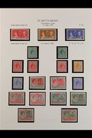 1937-1952 COMPLETE FINE MINT COLLECTION On Leaves, All Different, Includes 1938-50 Set With Many Shades, Perf & Paper Ty - St.Kitts And Nevis ( 1983-...)