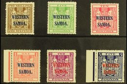 """1935-42 Postal Fiscals On """"Cowan"""" Paper Complete Set To £5, SG 189/194, Never Hinged Mint. (6 Stamps) For More Images, P - Samoa"""