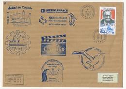 TAAF - Enveloppe Affr. 0,65E Charles Petitjean - Port Aux Français 18-2-2013 + Cachets Divers 63eme Mission - Franse Zuidelijke En Antarctische Gebieden (TAAF)