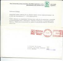 Cover And Letter - ATM 1978 Slogan/flame- PHARMACY Medical , Pharmaceutical Factory KRKA -Novo Mesto.Slovenia-Yugoslavia - 1945-1992 République Fédérative Populaire De Yougoslavie