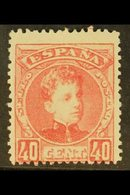 1901-5 40c Rose King Alfonso XIII, SG 302, Mi 219, Edifil 251, Fine Mint. For More Images, Please Visit Http://www.sanda - Spain
