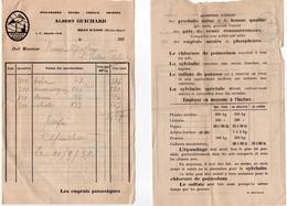98Aa  04 Digne Bras D'Asse La Bégude Facture Albert Guichard Boulangerie Grains Engrais Amandes - Frankrijk