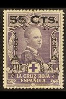 1927 55c On 20c Violet 25th Anniversary Of Coronation, SG 436 (Edifil 379), Never Hinged Mint. For More Images, Please V - Spain
