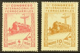 1930 4p Carmine & 10p Brown Railway Congress, Mi 455/6, SG 545/6, Fine Mint (2). For More Images, Please Visit Http://ww - Spain