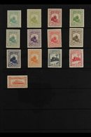 1930 Railway Congress Set To 4p (Edifil 469/80, Mi 444/55), Plus Express 20c (Edifil 482, Mi 463), Fine Mint. (12 Stamps - Spain
