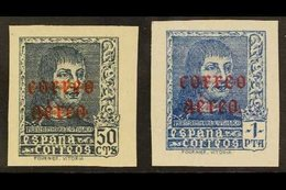"""1938 Air """"Correo Aereo"""" Opt'd Set IMPERFORATE, Edifil 845s/846s (SG 922/23 Variety), Never Hinged Mint (2 Stamps) For Mo - Spain"""