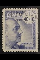 1940 Anti-TB Fund 40c+10c Without Cross Of Lorraine, Edifil 938ef, Never Hinged Mint. For More Images, Please Visit Http - Spain
