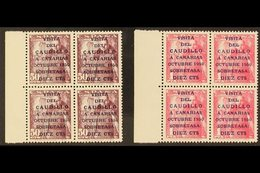 1950 General Franco's Canary Island Visit Set With 16½mm Overprints, SG 1149A/50A (Edifil 1083A/B), Never Hinged Mint BL - Spain