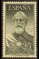 1953 25p Legazpi Air Stamp, SG 1191 (Edifil 1124), Never Hinged Mint, Cat £190 For More Images, Please Visit Http://www. - Spain