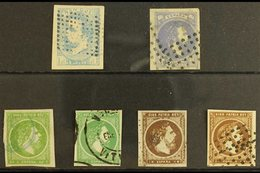 CARLIST ISSUES 1873-75 BASQUE Region Used Selection Inc 1873 1r Pale Blue With Tilde, 1874 1r Grey Lilac, 1875 50c & 1r  - Spain