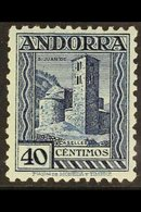ANDORRA 1935-4240c Deep Blue Perf 11½, SG 21B (Edifil 37), Never Hinged Mint. Very Scarce, Cat €1300. For More Images,  - Spain