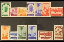 MOROCCO 1935-37 Pictorials IMPERFORATE Complete, As SG 165/170 & 177/183 (Edifil 148/160), Never Hinged Mint. Very Scarc - Spain