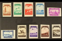 MOROCCO 1938 Airs IMPERFORATE Set Complete, As SG 203/212 (Edifil 186/195), Never Hinged Mint (10 Stamps) For More Image - Spain